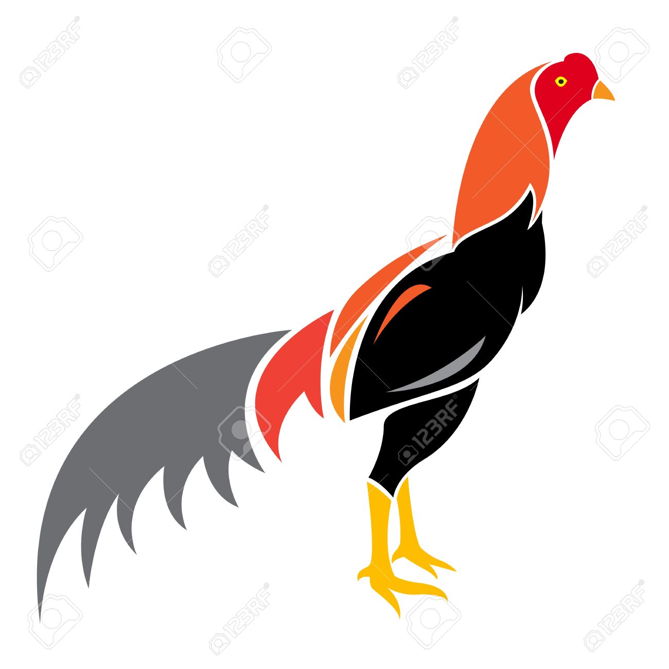 Vector image of an cock on white background Stock Vector - 17549569