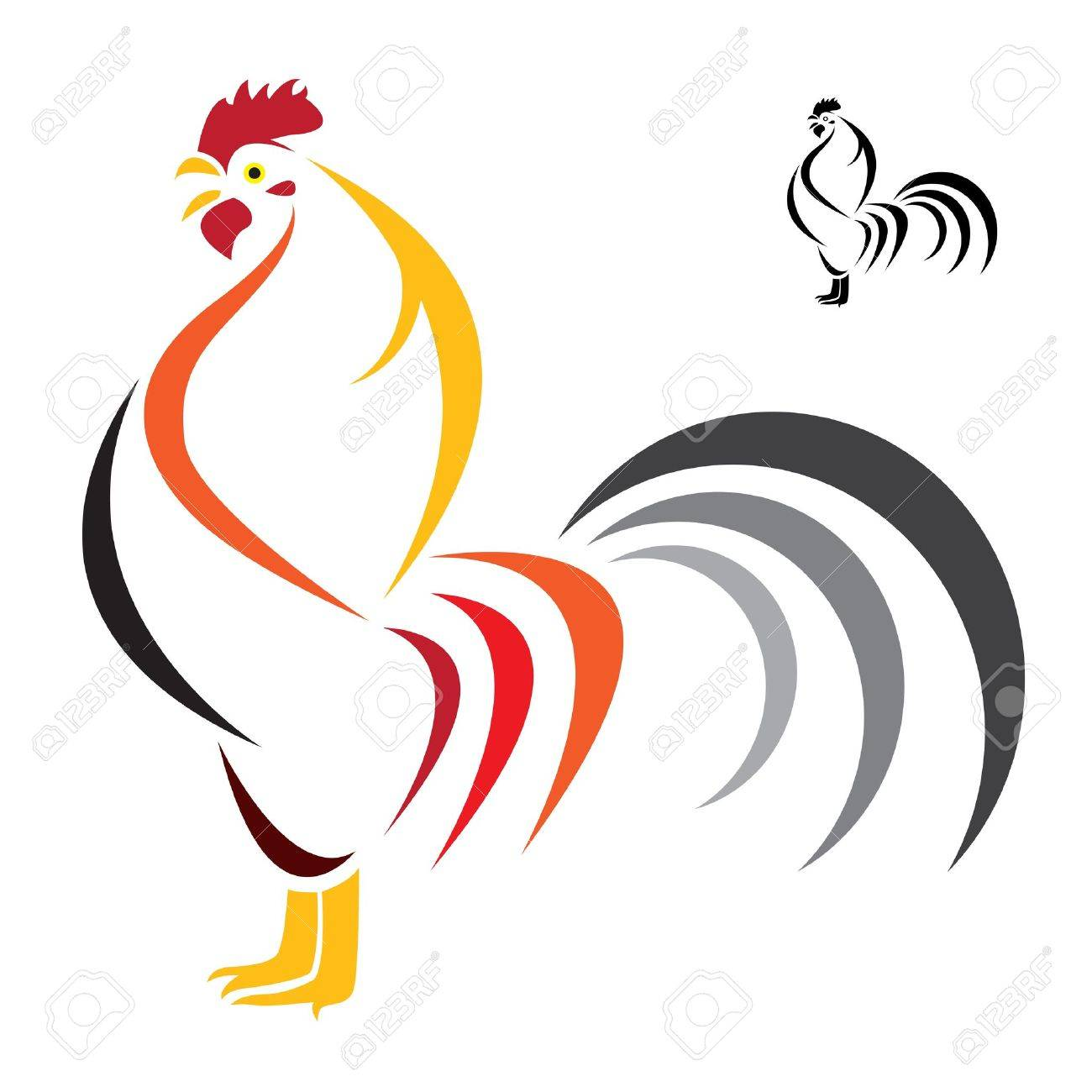 Vector image of an cock on white background Stock Vector - 17549576