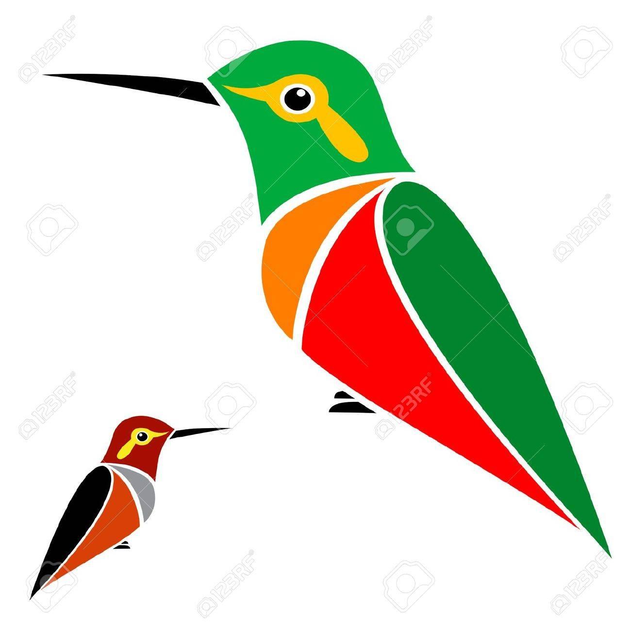 hummingbird on white background Stock Vector - 17794708