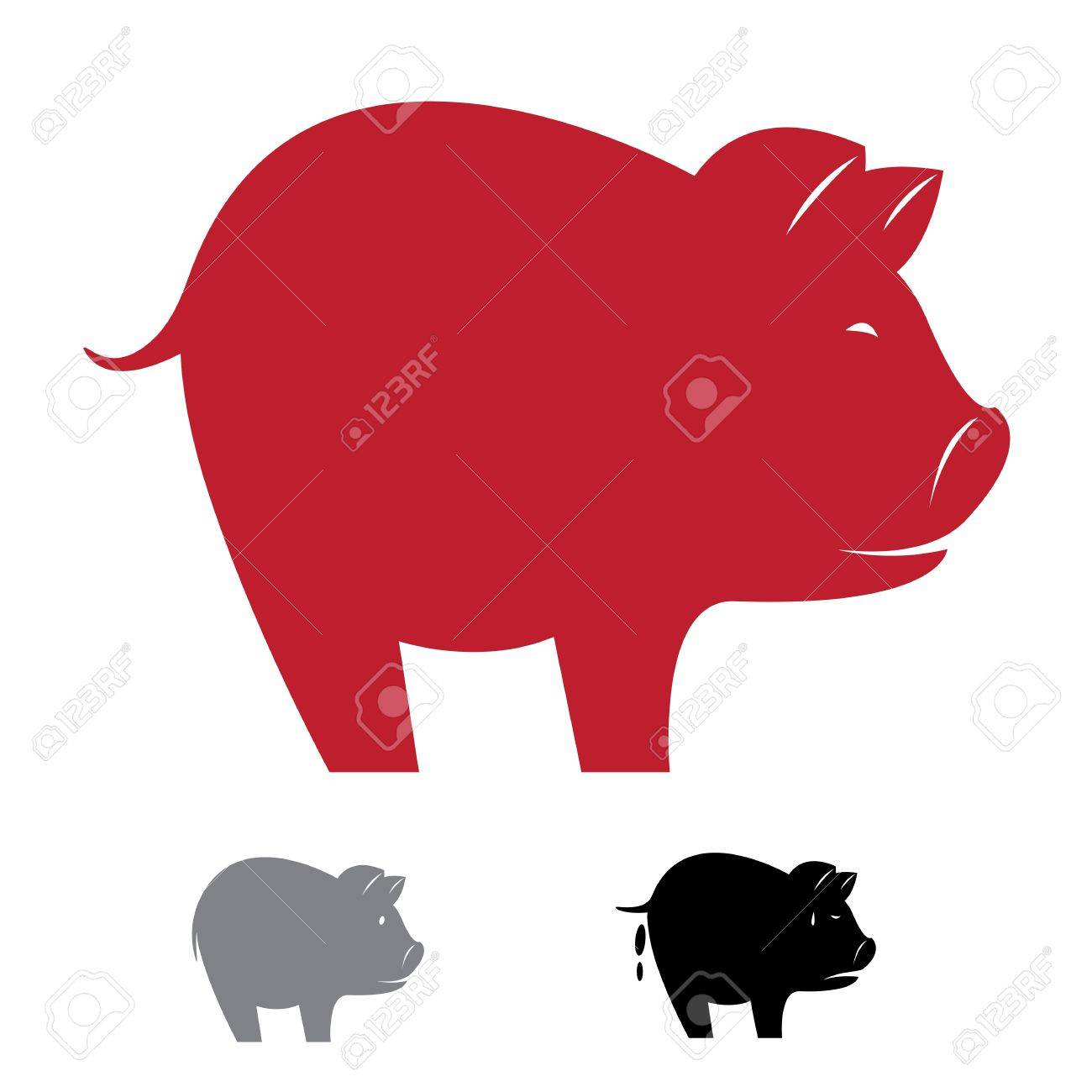 image of an pig on white background Stock Vector - 18851619