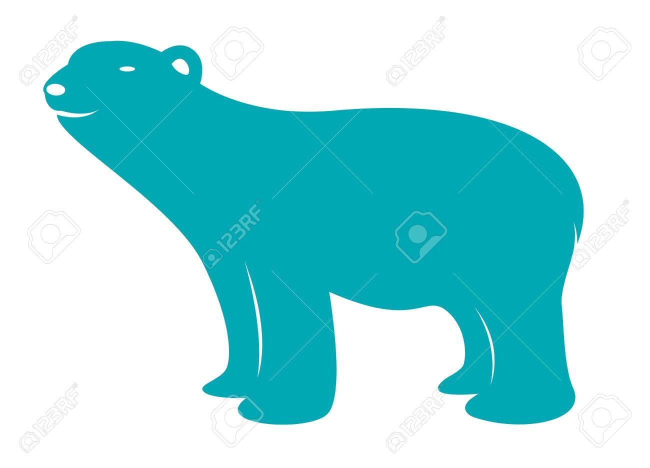 Vector image of an bear on white background Stock Vector - 18851591