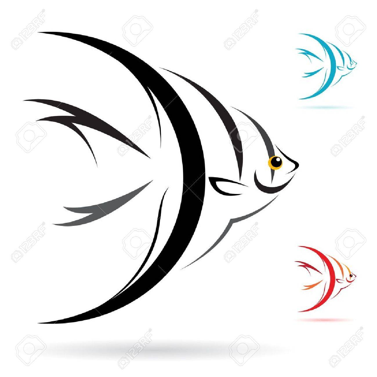 image of an angel fish on white background royalty free cliparts