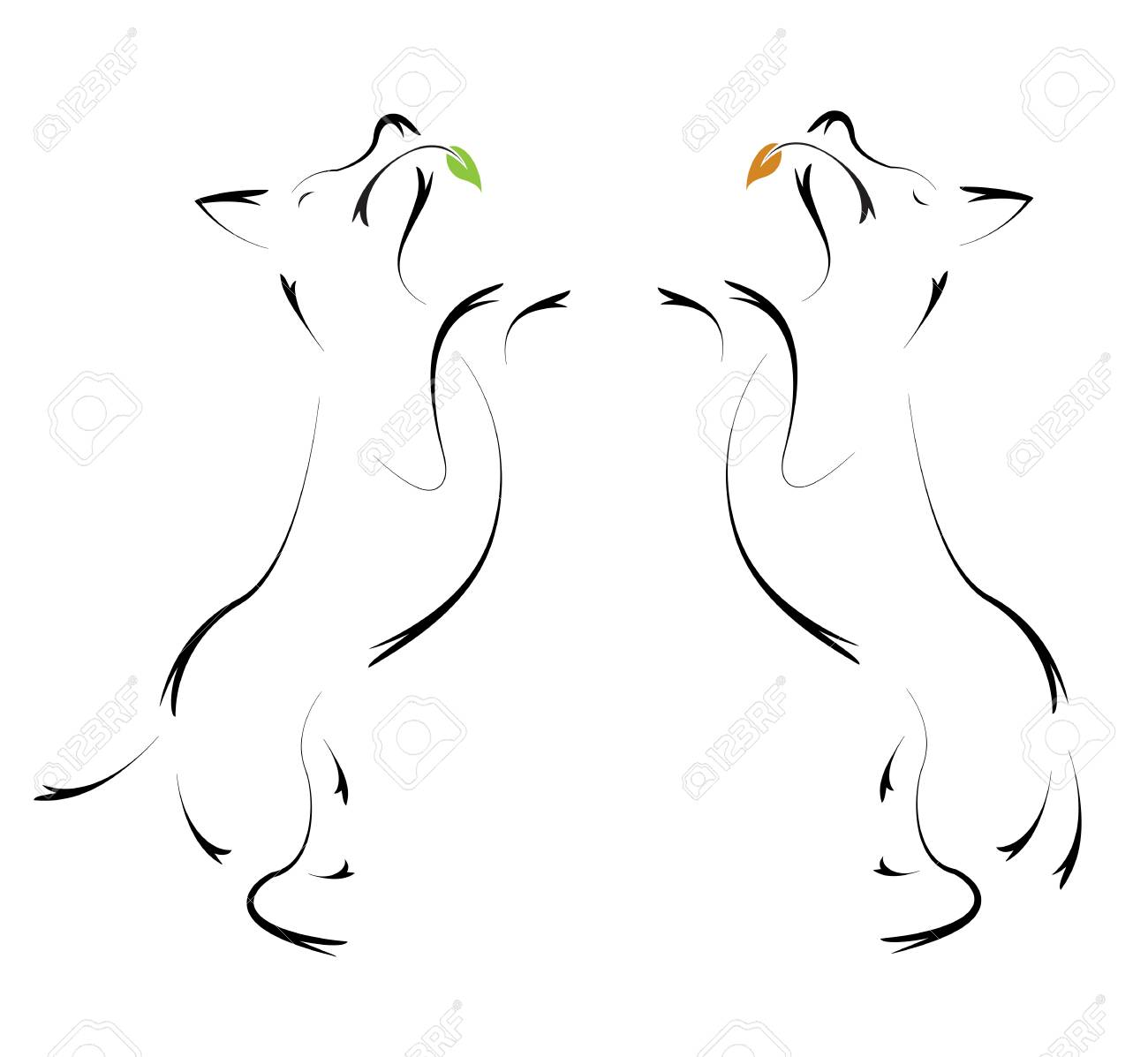 Vector image of an dog on white background Stock Vector - 19501941