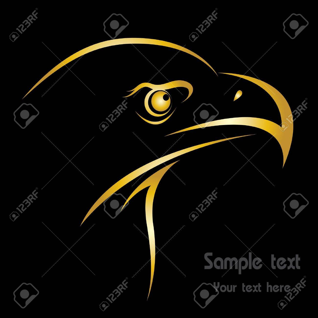 Head of an eagle in the form of the stylized tattoo Stock Vector - 19659835