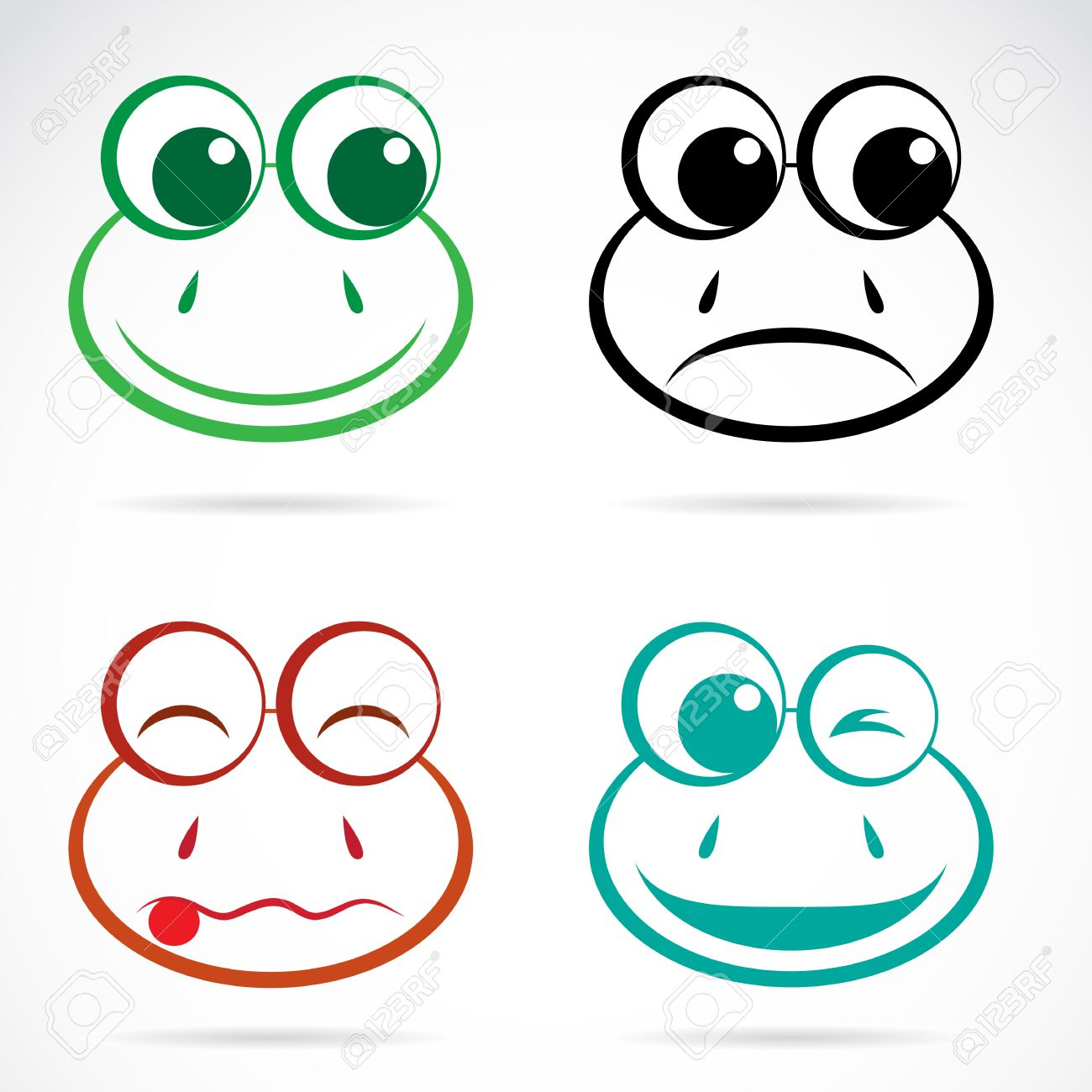 vector image of an frog face on white background royalty free