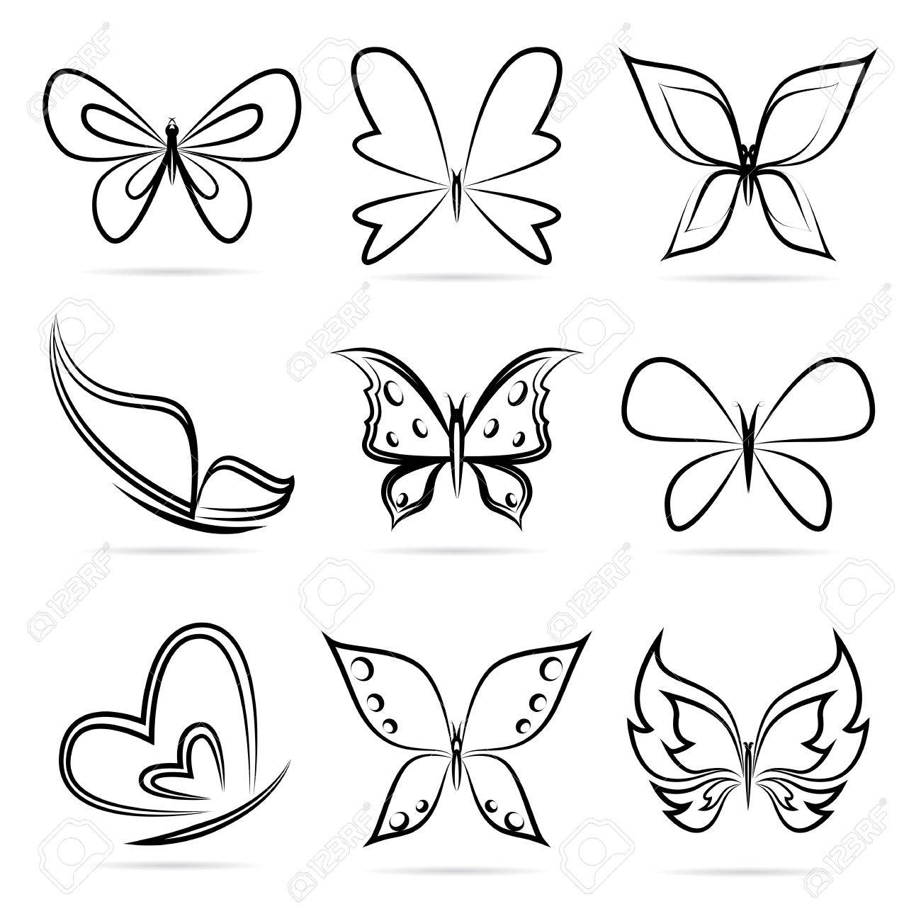 Vector Group Of Butterflies On White Background Royalty Free Cliparts Vectors And Stock Illustration Image 20875709