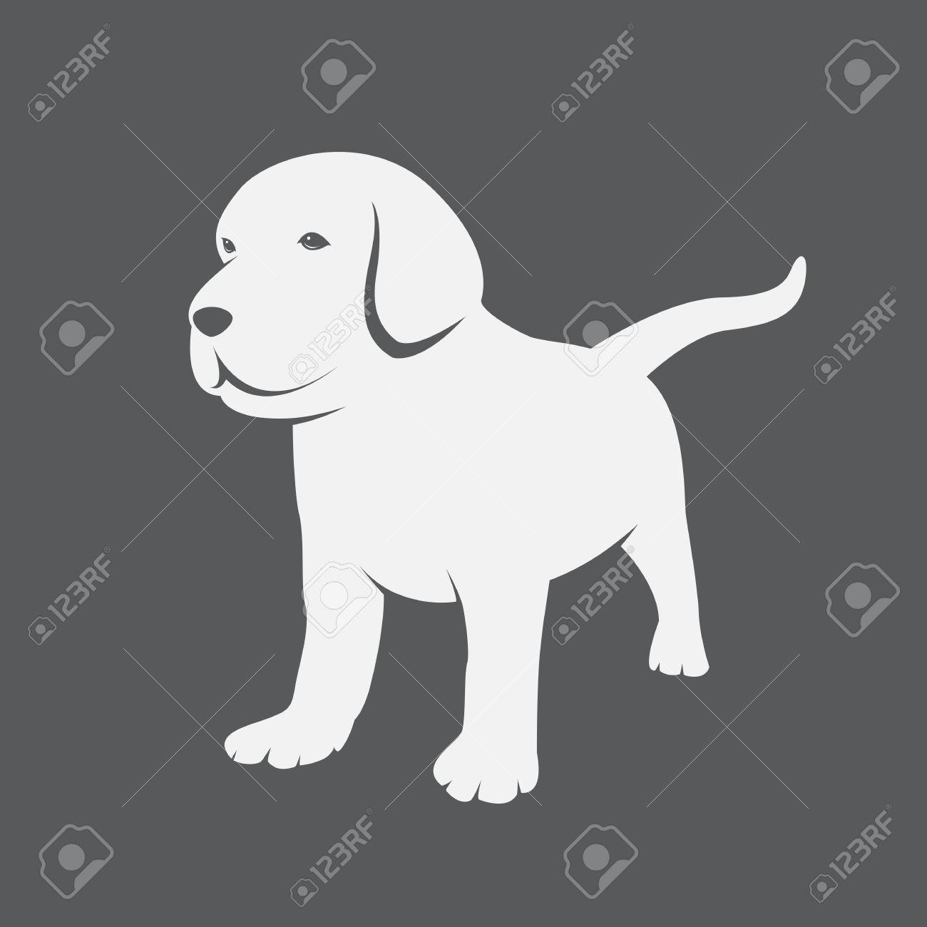 Vector Image Of An Labrador Puppies Royalty Free Cliparts Vectors