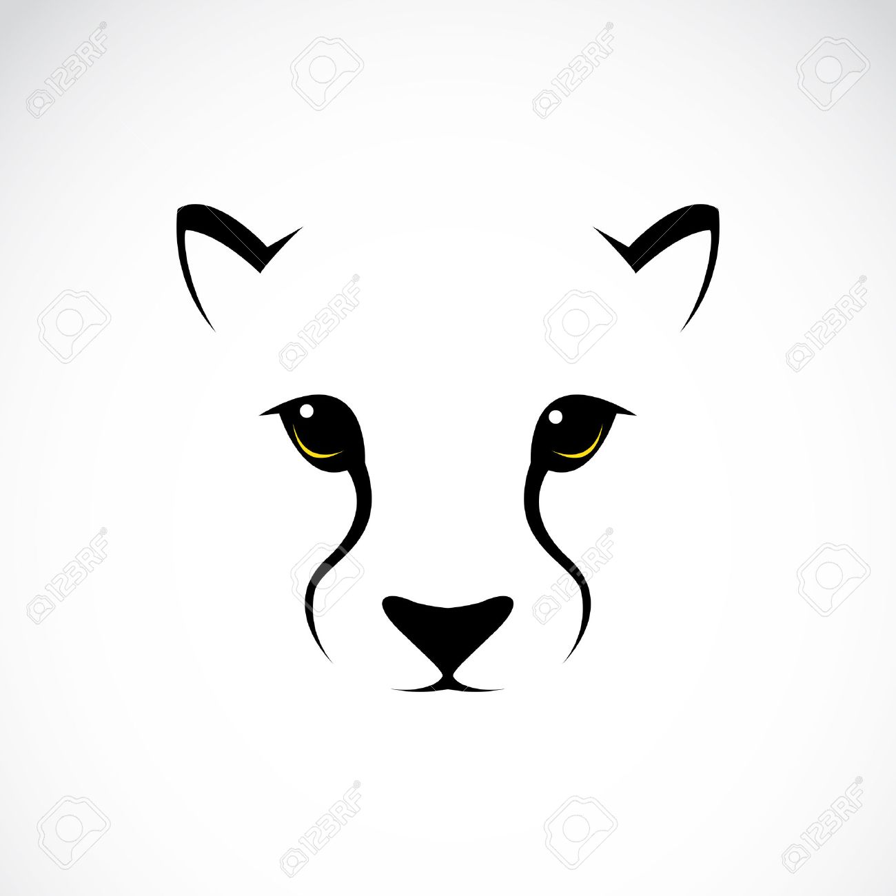 Vector Image Of An Cheetah Face On White Background Royalty Free