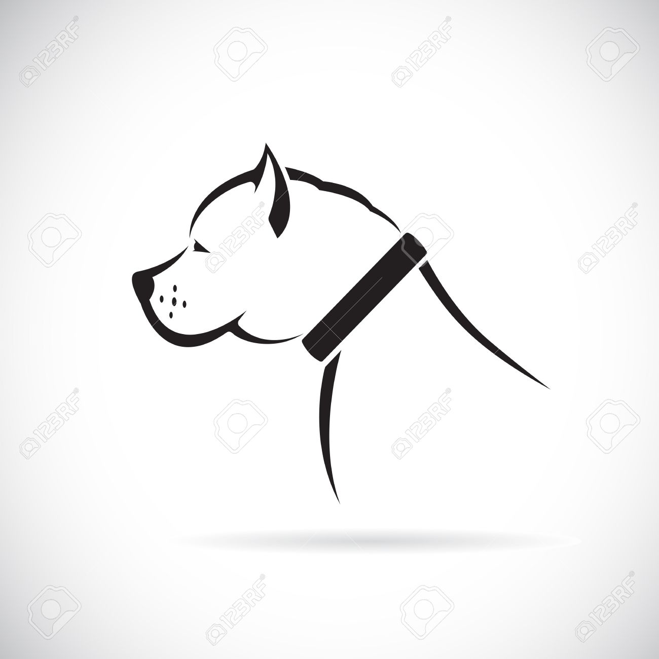 Vector Images Of Pitbull Dog On A White Background Royalty Free