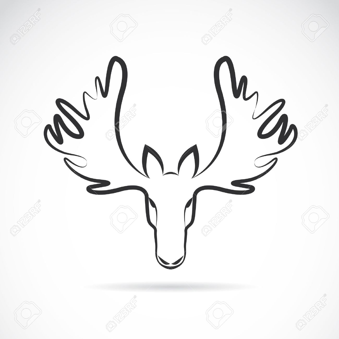 vector images of moose deer head on a white background royalty