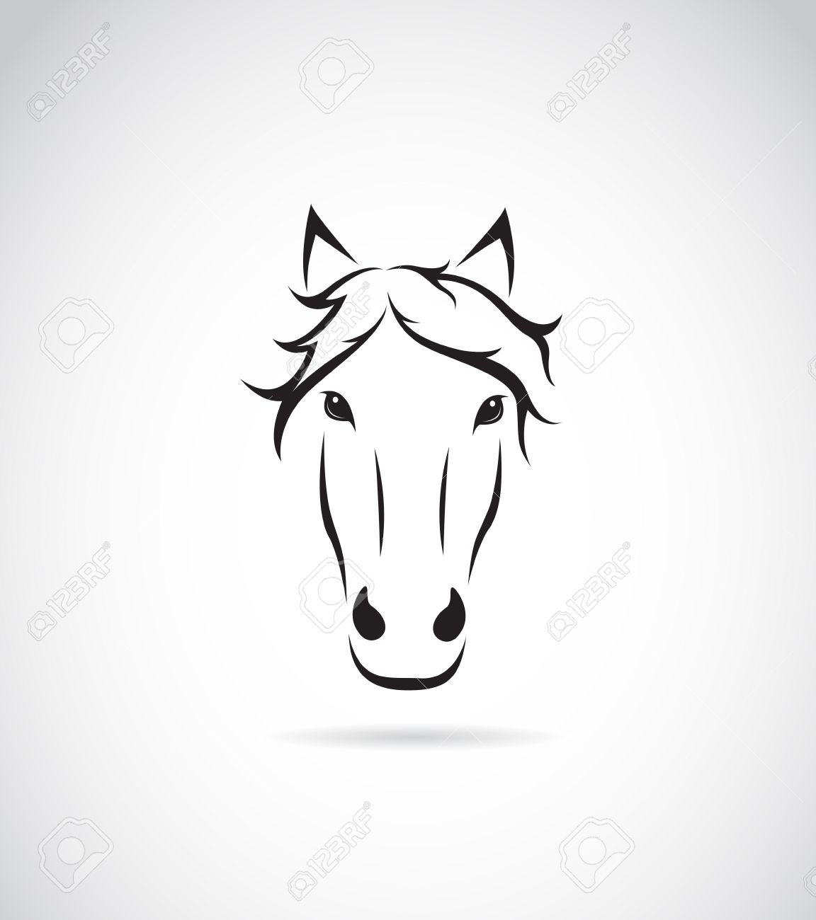 Vector Image Of An Horse Face On White Background Royalty Free