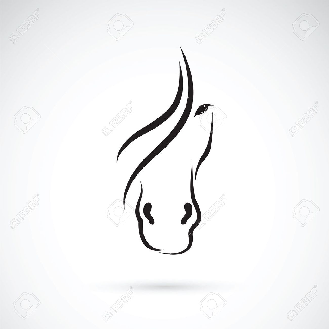Vector Image Of An Horse Face Design On White Background Royalty