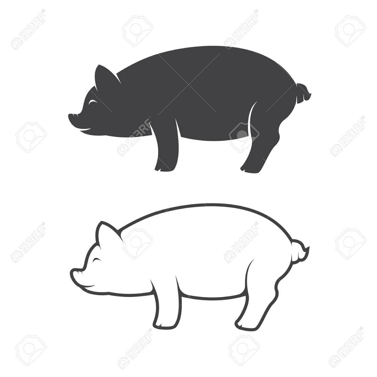pig design on white background - 51307443