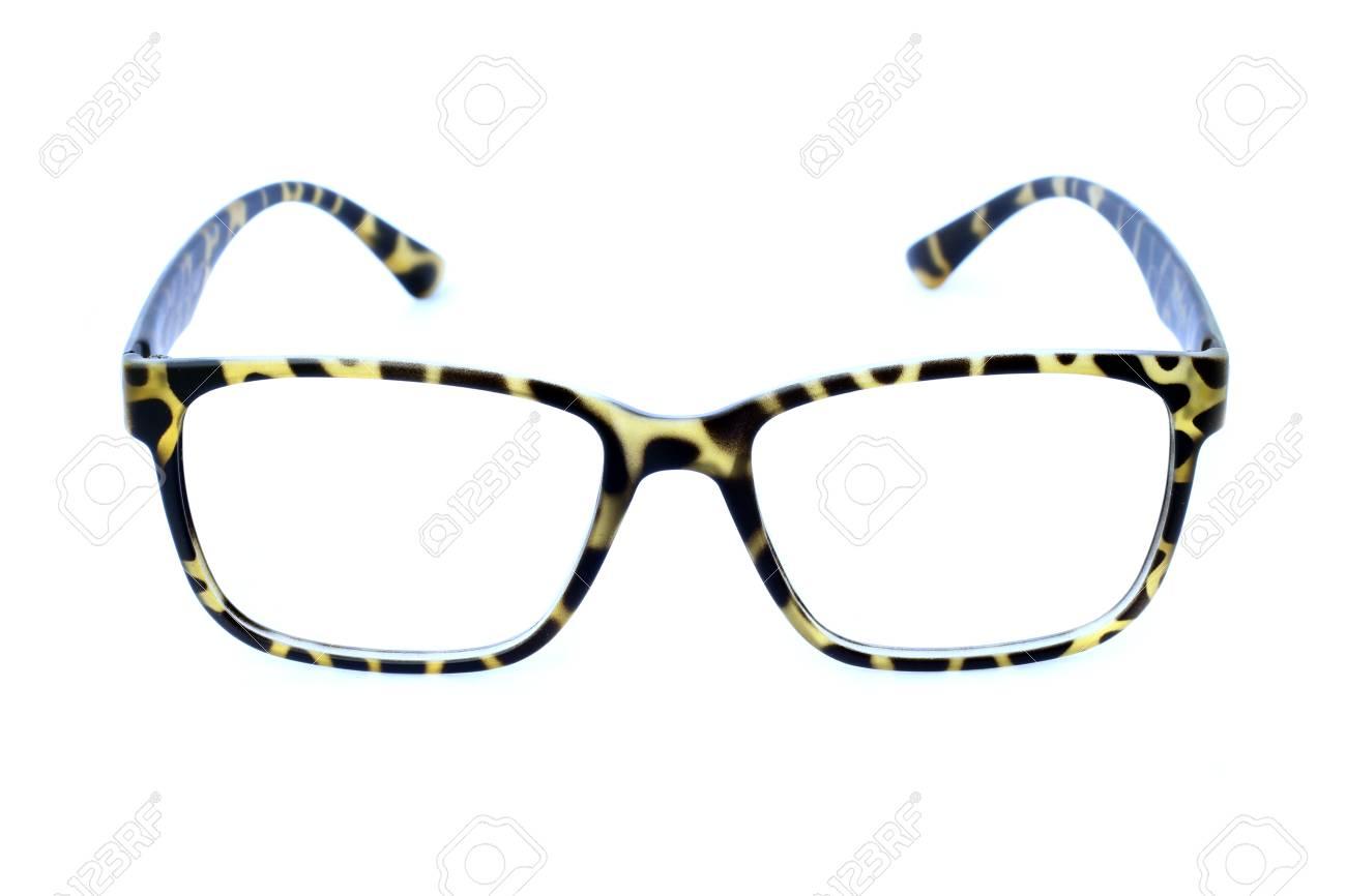 Foto Von Rahmen Brillen Auf Weißem Hintergrund. Lizenzfreie Fotos ...
