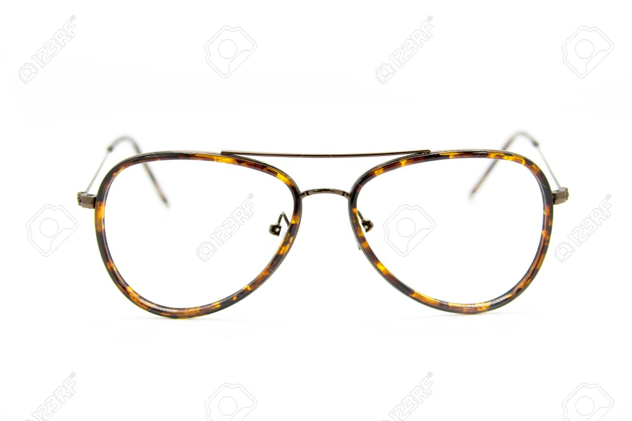 3765fea49ea7 Modern Fashionable Spectacles On White Background