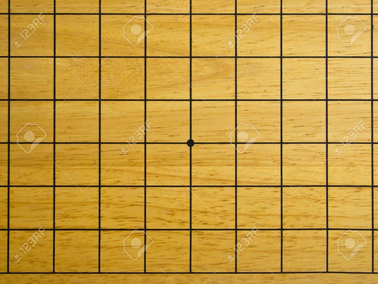 Grid Go Game Board Stock Photo