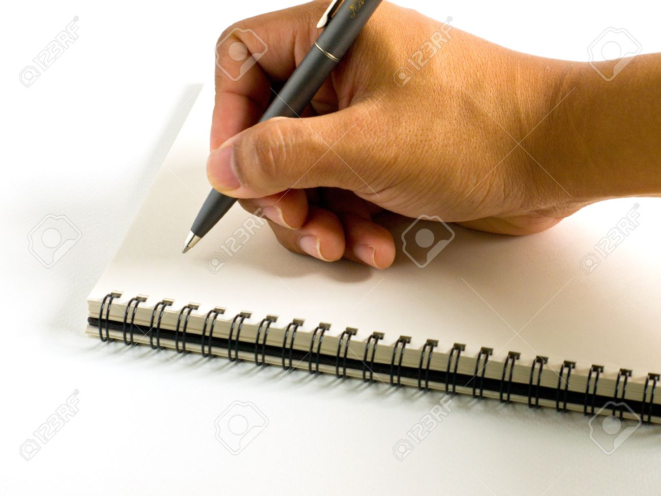 Write on note book Stock Photo - 9238253