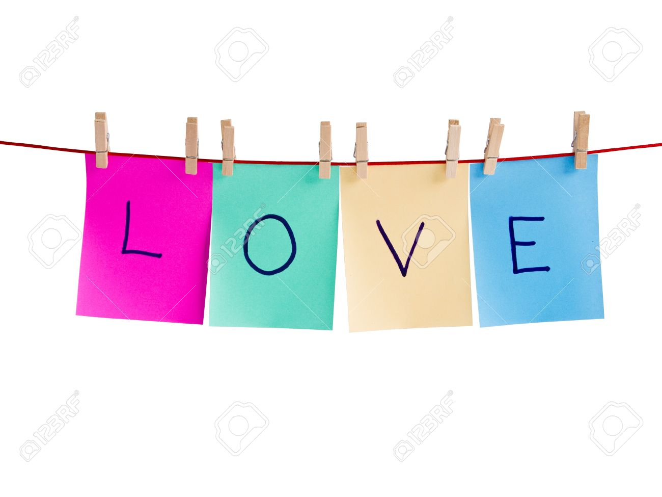 Word Love Clip On Note Page Stock Photo, Picture And Royalty Free ...