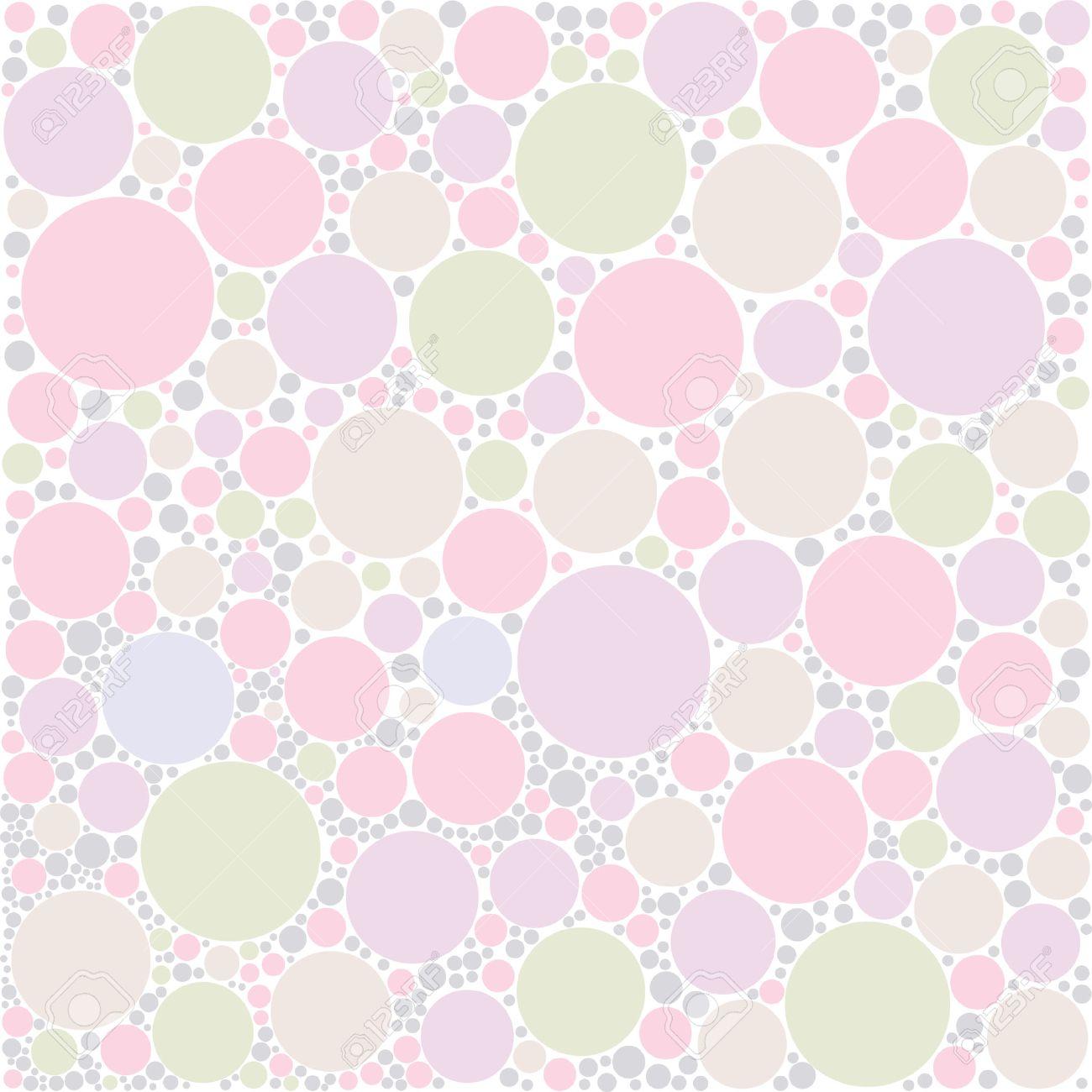 Circulo En Colores Pastel De Fondo Aleatorio Ilustraciones