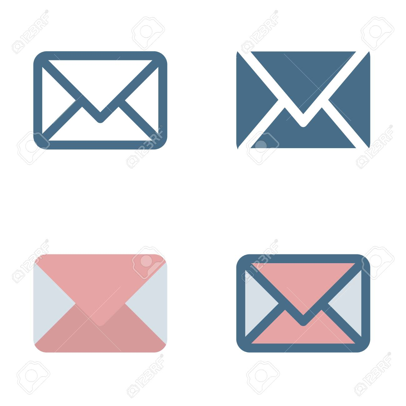 Email icon in isolated on white background. for your web site design, logo, app, UI. Vector graphics illustration and editable stroke. EPS 10. - 141788796
