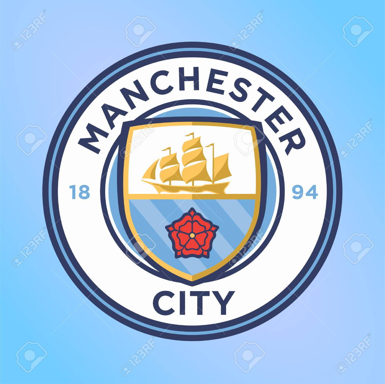 Manchester City Football Club Logo Vector Template Professional ...