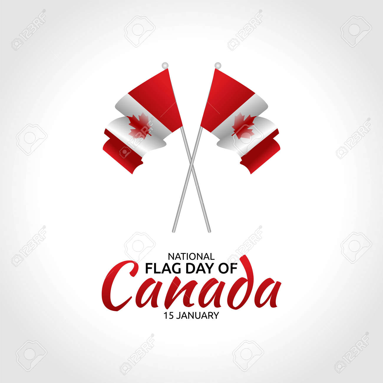 National Flag Day of Canada Vector Illustration. Suitable for greeting card poster and banner - 159771784