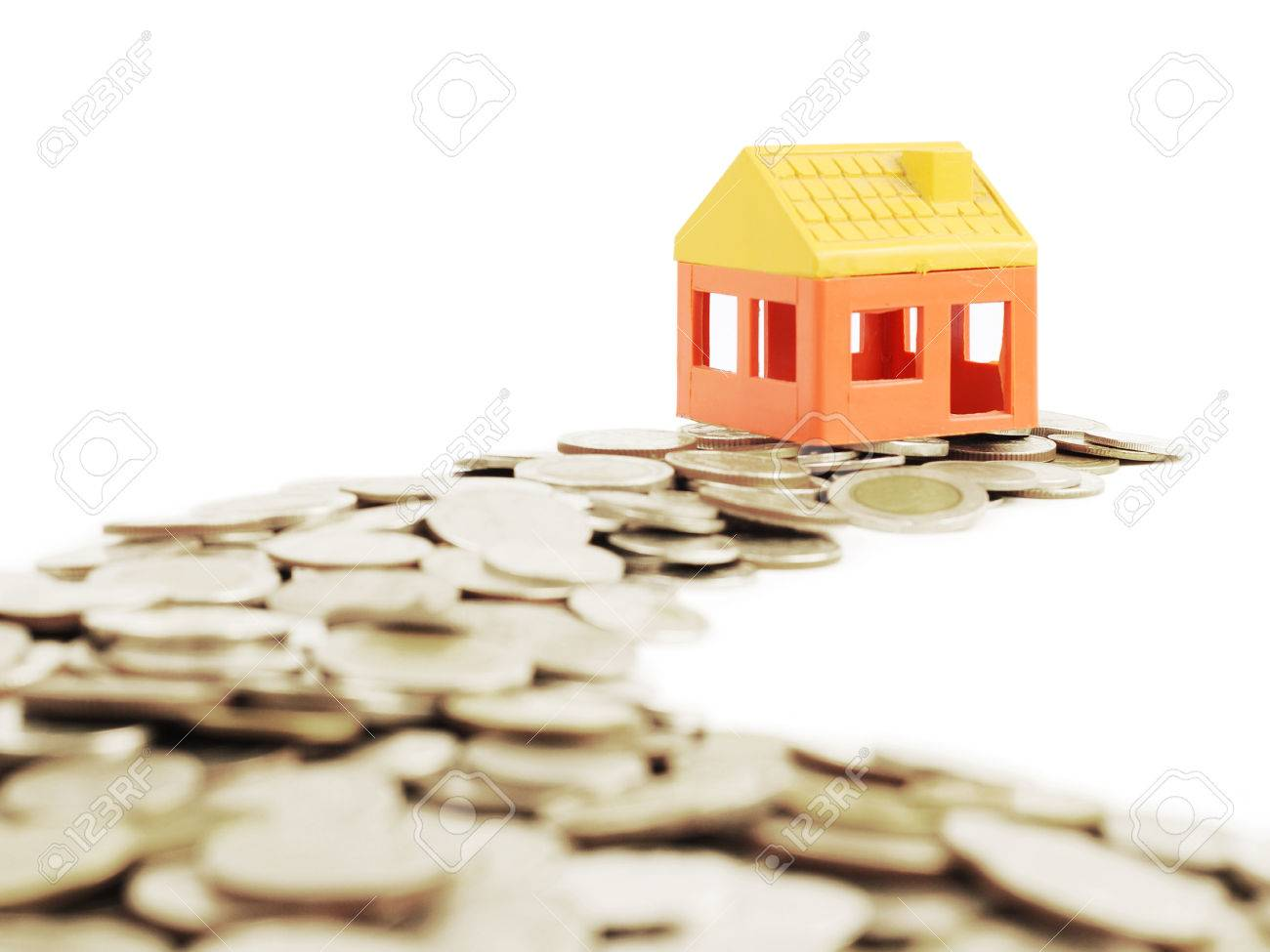 The way of moneys to model house ,business concept Stock Photo - 25226586