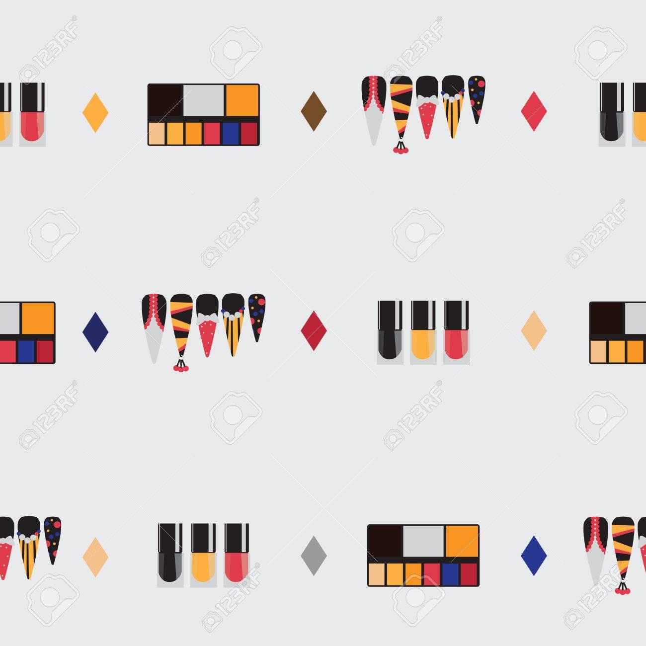Nail Designs Vector