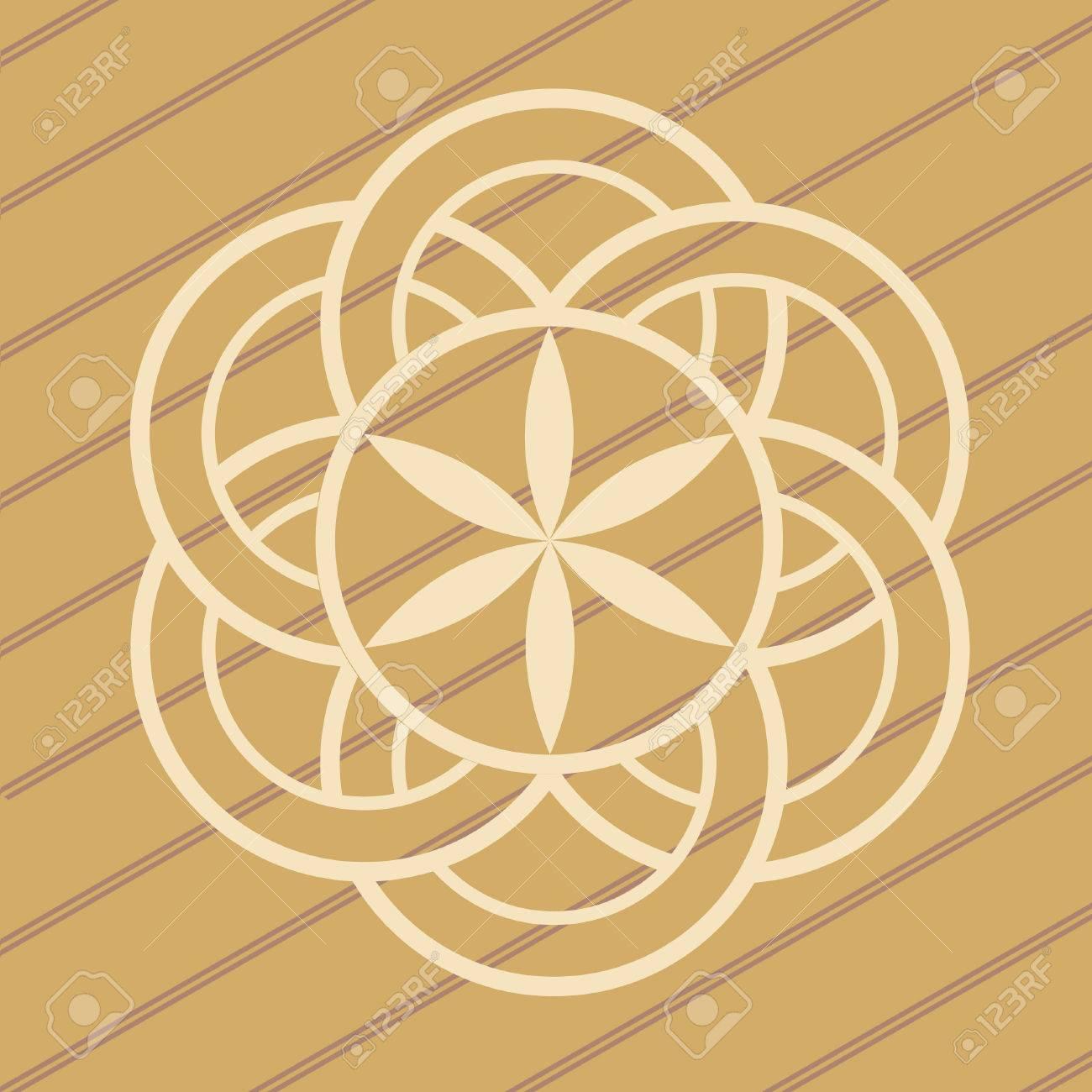 ufo crop circles design in wheat/corn fields Stock Vector - 9845816