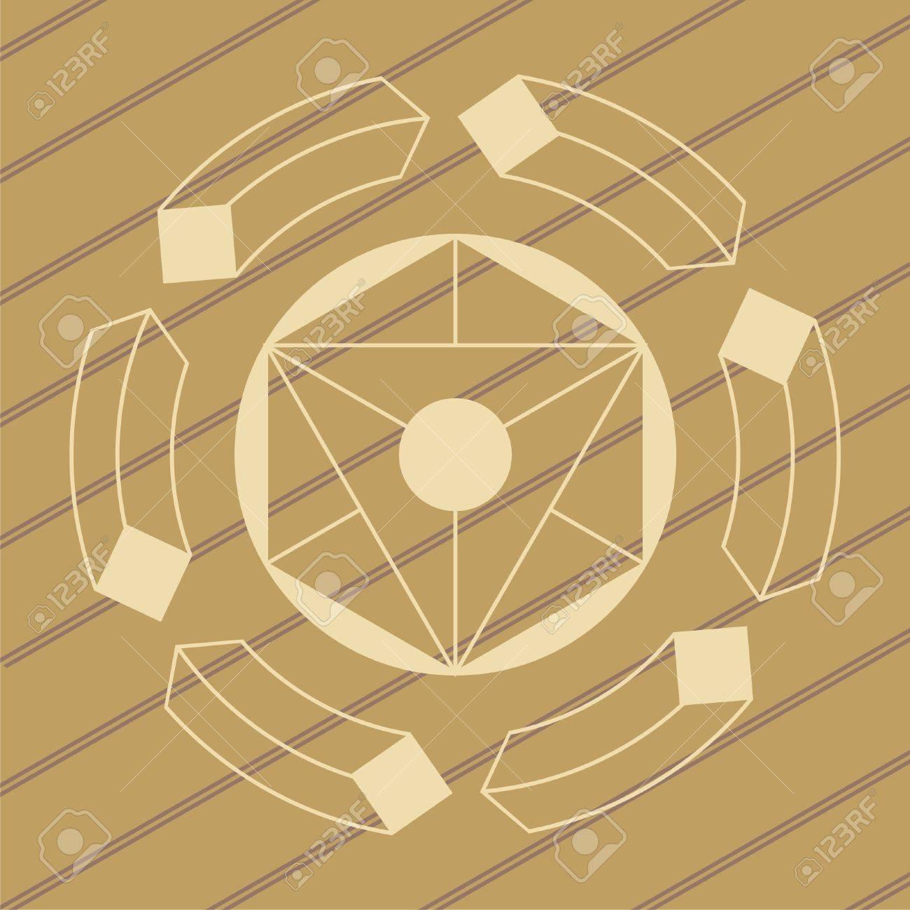 ufo crop circles design in wheat/corn fields Stock Vector - 9931349