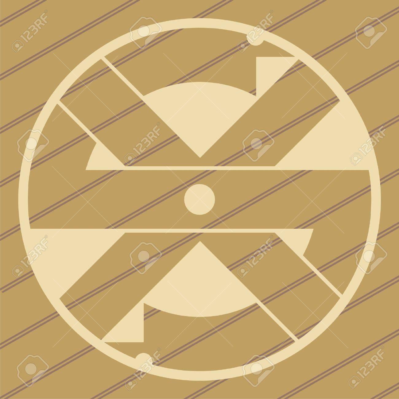 ufo crop circles design in wheat/corn fields Stock Vector - 9931346