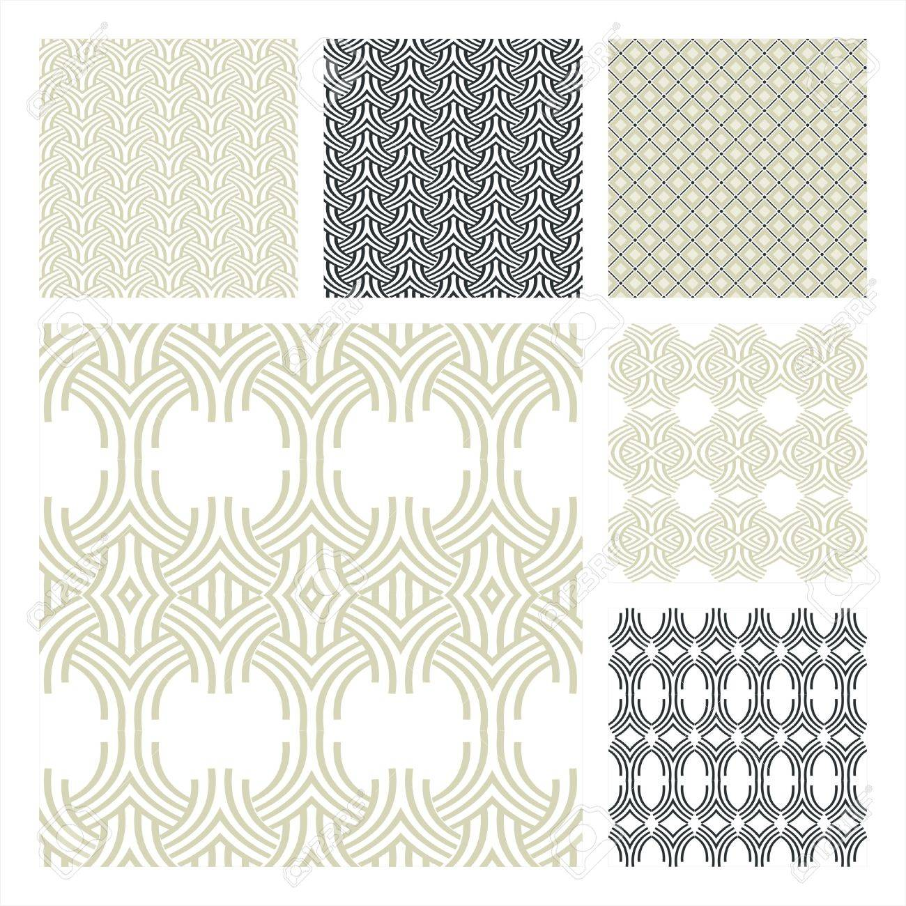 Collection Of Six Seamless Pattern.Background texture Stock Vector - 10309505