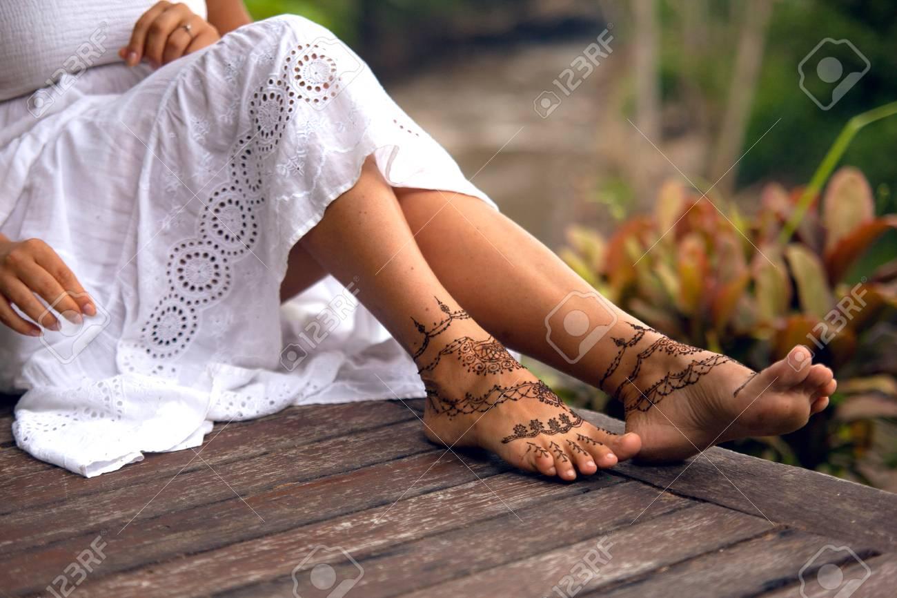 Henna Tattoo Design On Legs Beautiful Indian Mehendi Ornaments