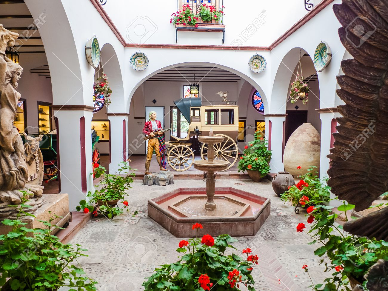 Patio Andaluz In Ronda Museum Stock Photo Picture And Royalty Free