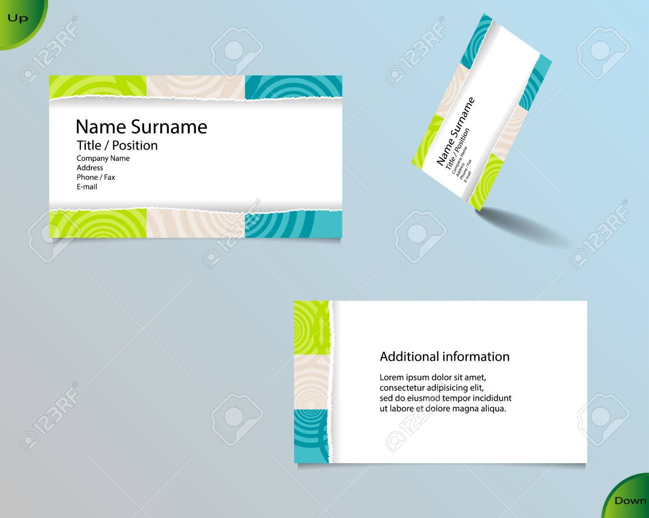 Business card layout with modern white color and pallet of trendy business card layout with modern white color and pallet of trendy colors and ornaments made from magicingreecefo Choice Image