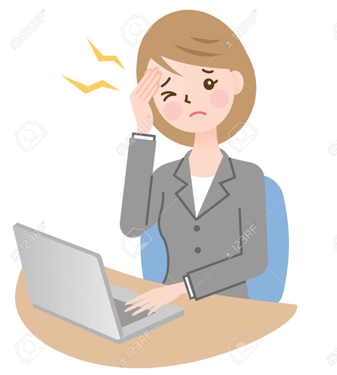 business woman with headache - 56648640