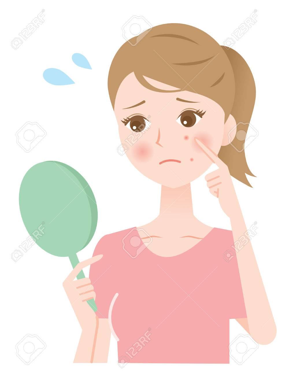 acne woman - 60897067