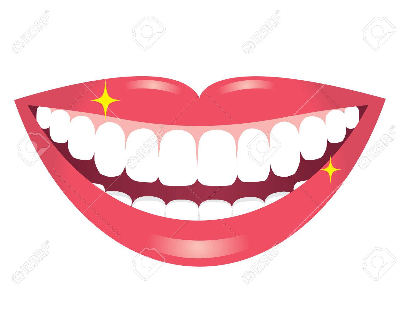 smiling mouth with white teeth royalty free cliparts vectors and rh 123rf com mouth with no teeth clipart Smiling Mouth Clip Art