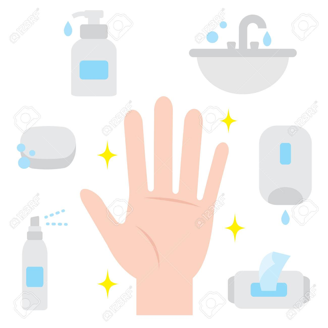 ways to keep hand clean. hand hygiene - 78544919
