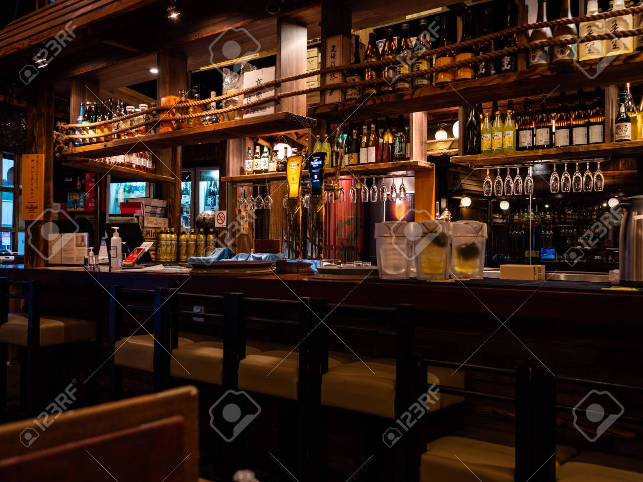 Singapore July 08 Empty Bar Counter At The Public Izakaya Stock Photo Picture And Royalty Free Image Image 151523935