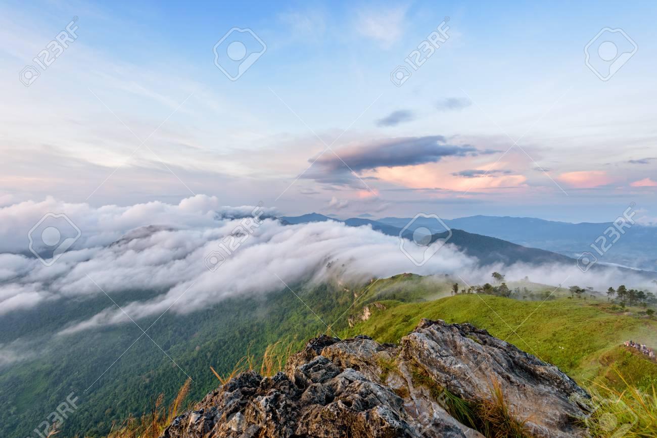 ピーク山雲霧とプー カイ Fa 森...