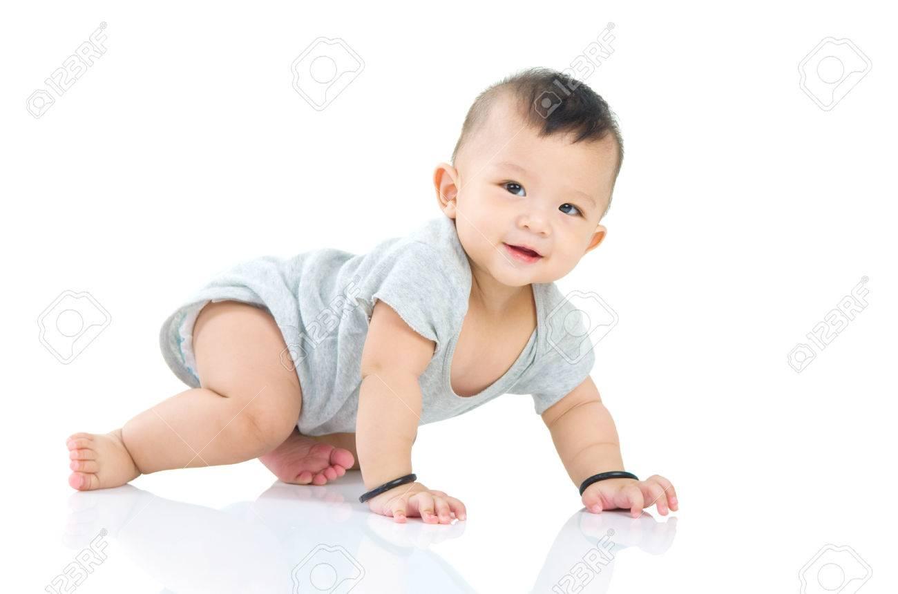 crawling beautiful baby boy - 54726946