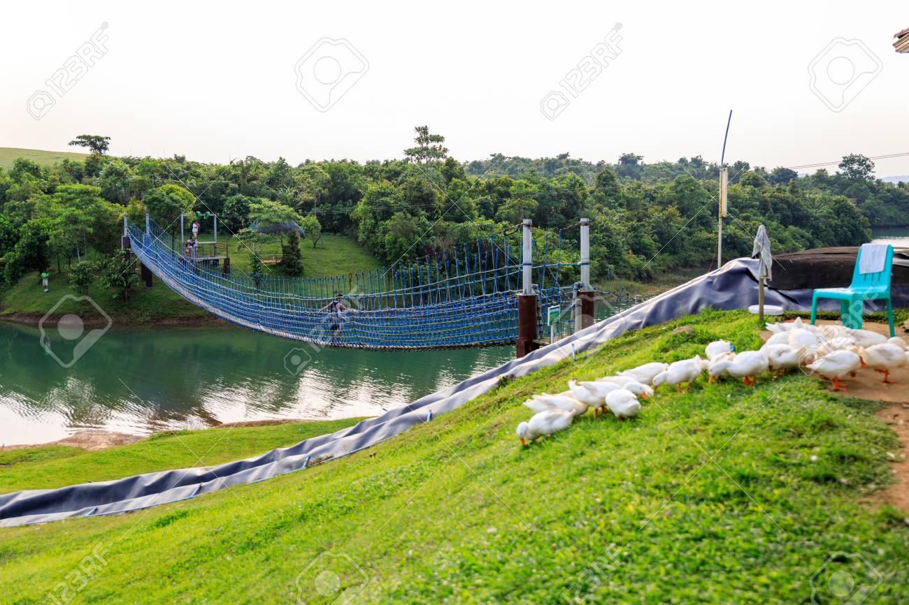 mountain lake resort in cavinti philippines, asia stock photo