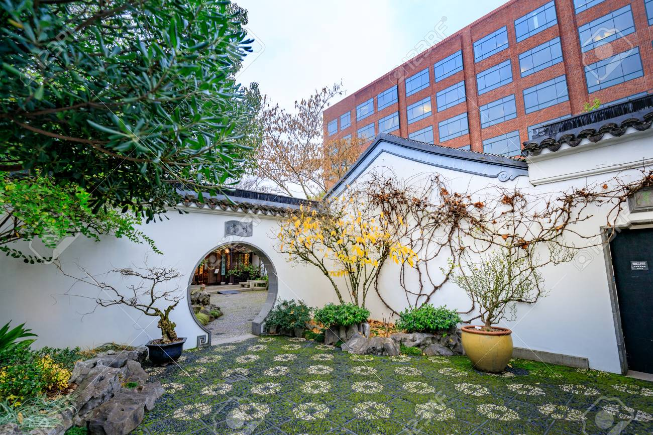 portland oregon united states dec 19 2017 the landmark lan su - Chinese Garden Portland