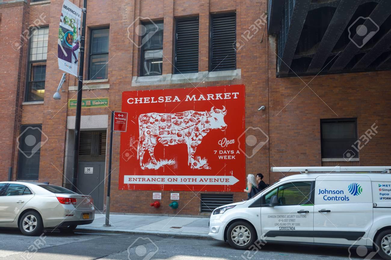 Manhattan, New York City - May 10, 2018 : Signboard of NYC Landmark