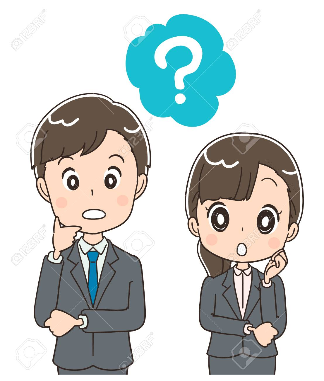Young businessmen and men ask questions. - 92653891