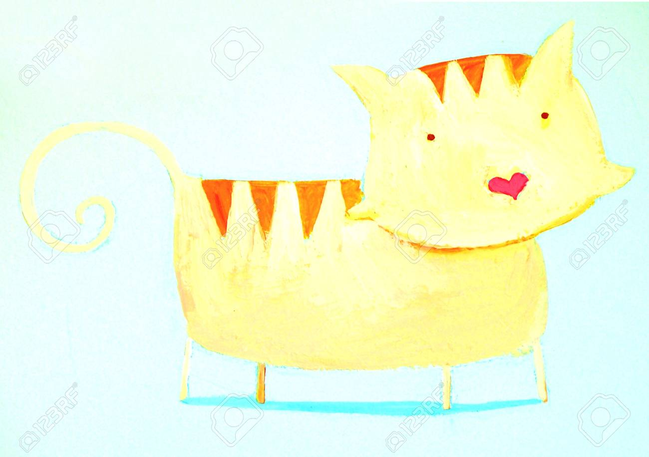 abstract cat Stock Photo - 4815552