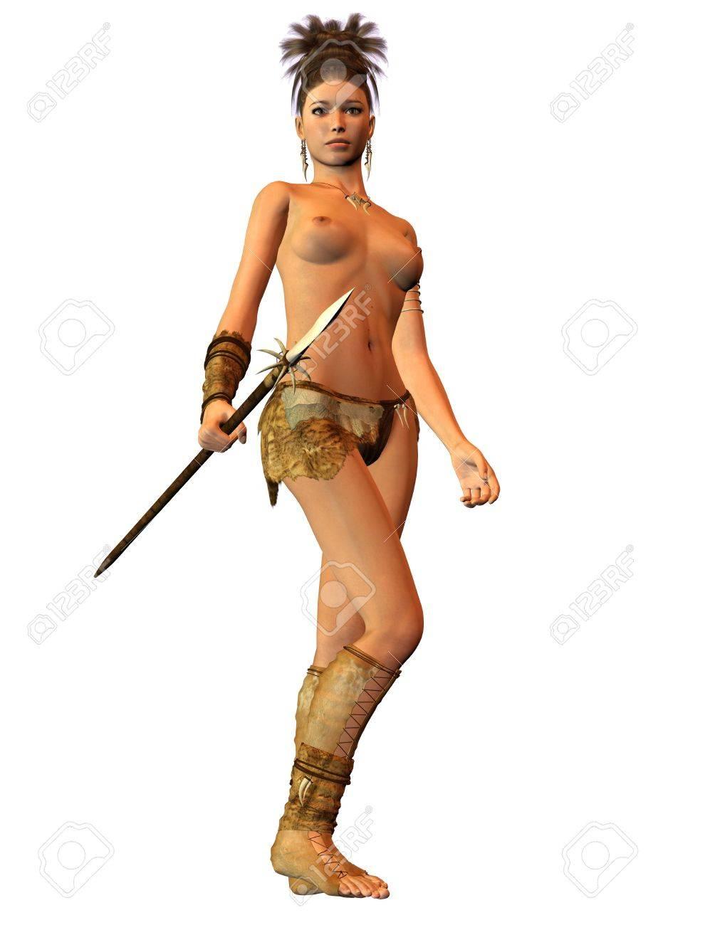 Amazon warrier in bikini nude scene