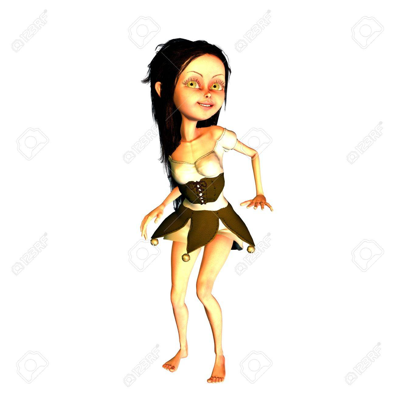 3d rendering a dancing girl as illustration Stock Photo - 10050114