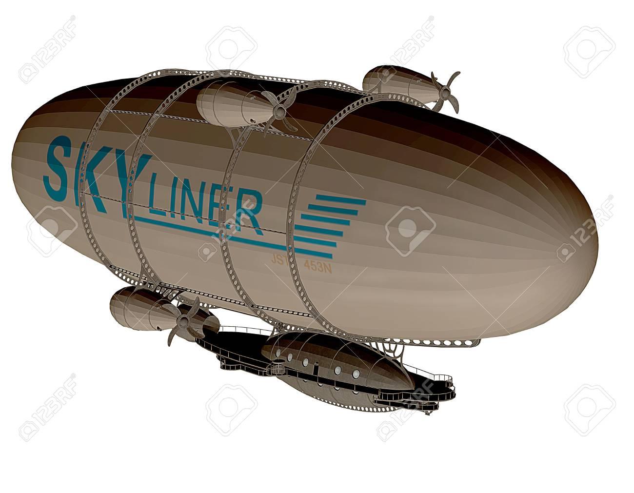3d rendering of a Zeppelin as an illustration Stock Illustration - 17090119